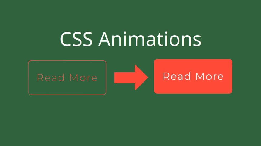 Two buttons showing the before and after of css animations